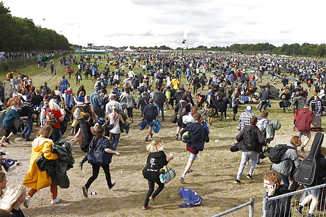 'The weather gods are with us': Roskilde fan