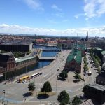 To the east, one sees the spire tower of Børsen and Christianshavn. Photo: Justin Cremer