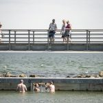 An open-air swimming pool in the North Sea opened to the public in Nørre Vorupør near Thy.Photo: Sofus Comer/Scanpix