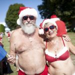 Mr. and Mrs. Claus strip down to beat the heat.Photo: David Leth Williams/Scanpix