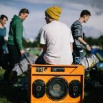 Music is never far away in the Roskilde camping grounds, as many guests bring their own homemade stereo systemsPhoto: Bobby Anwar