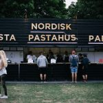 The Nodisk Pastahus is just one of the well over 100 food stalls found at the Roskilde Festival.Photo: Bobby Anwar