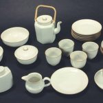 <b>Gertrud Vasegaard</b><br> While her name may no longer be well known, ceramicist Vasegaard's famous tea set is still inspiring ceramic and home goods designers in Denmark. Influenced by Chinese ceramics and organic shapes, the set was produced in 1956 by Bing & Grøndahl. The tea set is notable for its fluidity while using a variety of shapes.Photo: Lauritz.com