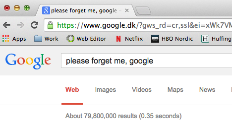 1,489 Danes want to be forgotten by Google