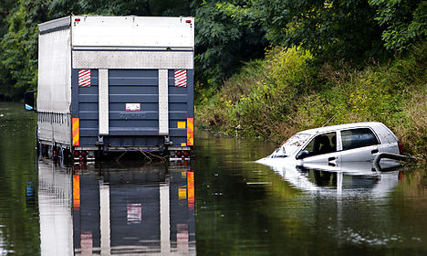 Danes warned to stay indoors after heavy rains