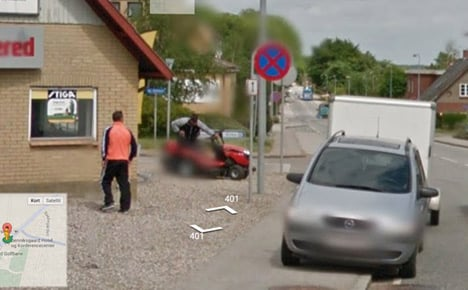 Google photo catches Danish thieves in action