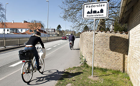 Danish town becomes German – on road signs