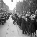 British soldiers who arrived on May 5th 1945 were driven triumphantly throughout Copenhagen. Photo: A. E. Andersen/Scanpix