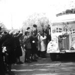 Scandinavian concentration camp prisoners were rescued in so-called White Buses. Shown here are interned police officers. Photo: Poul Petersen/Scanpix