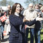 Crown Princess Mary welcomed the concept of bridge walking –popularized in her native Australia – to Denmark on May 10 by taking a trip to the top of the Old Little Belt Bridge.Photo: Claus Fisker/Scanpix