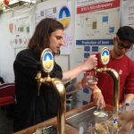 Students from the Technical University of Denmark invited guests to try their experimental gluten-free beer at the 2015 Copenhagen Beer Festival