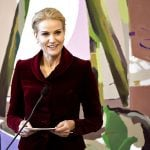 PM Helle Thorning-Schmidt speaks about the importance of the 1915 constitution. Photo: Nils Meilvang/Scanpix