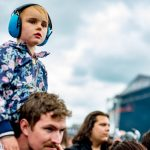 Copenhell is not only attended by the long-haired and the bearded. Plenty of children joined in on the festivities, including this little one. Photo: Philip B. Hansen/PhilpBH.com