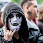 This fan was excited for fellow mask-wearers Slipknot. Photo: Philip B. Hansen/PhilpBH.com