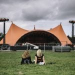 Roskilde Festival 2015: The lawn at Orange stage looked nice and lush early in the week but by the end it had been trampled into a mix of dust and cigarette butts.Photo: Bobby Anwar