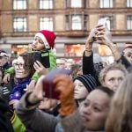 Christmas fans young and old came out for the ceremony. Photo: Copenhagen's Christmas tree. Photo: Simon Skipper/Scanpix