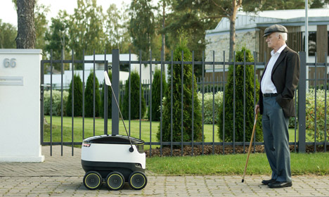 Danish Skype founder introduces robot delivery