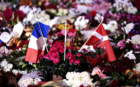 Danes join Europe's silence for Paris victims