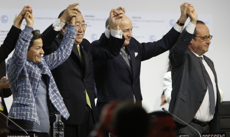 Joy as historic Paris climate deal adopted