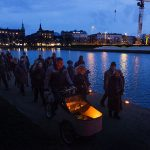 Copenhageners marked the one-year anniversary of the attacks with a peaceful yet defiant march through the city. Photo: Claus Bech/Scanpix