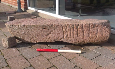 After 250 years, 'lost' rune stone found at Dane's home