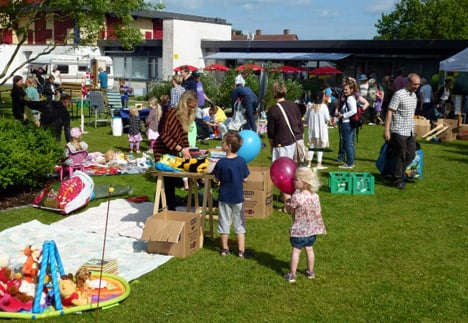 Flea markets are popular amongst Danes and can be a great place to pick up quality kids' items. Photo: Callistofestivalen