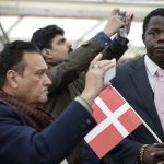 New citizens take photos to commemorate the day.Photo: Jens Astrup/Scanpix