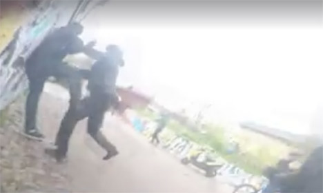 Violent Christiania police action caught on video