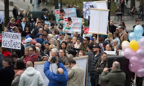 Anti-Barnevernet protests were held in Oslo and over 50 other cities last month. Photo: Ole Berg-Rusten/NTB Scanpix