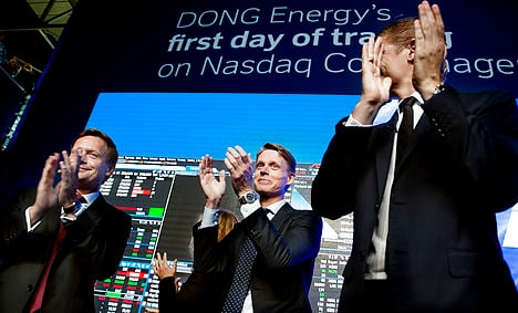 Denmark's Dong Energy takes bourse by storm