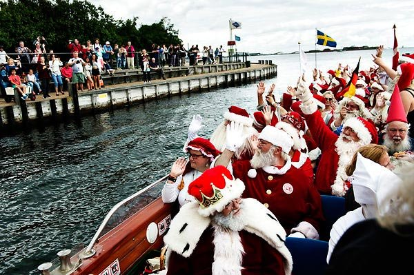 Santas from around the world come to Copenhagen… in July!