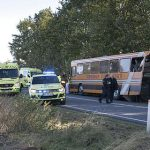Driver trying to discipline teens at time of bus accident
