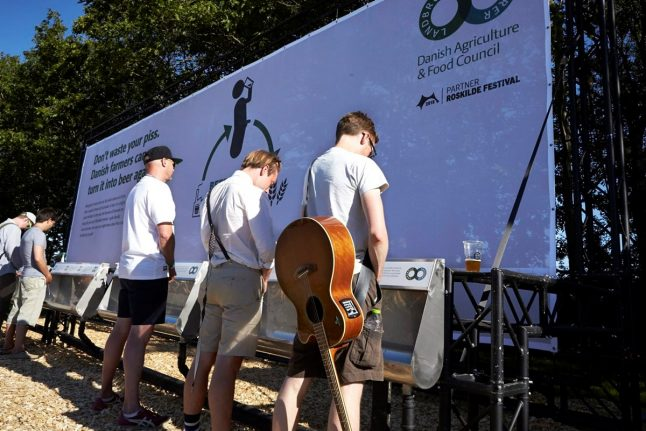 Danish farmers brew beer from recycled festival guest urine
