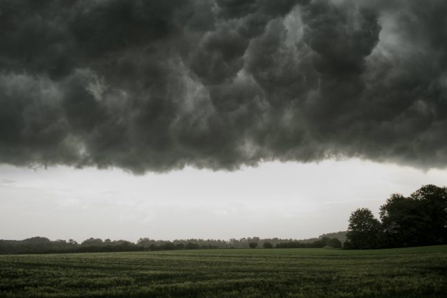 Twisters, lightning and giant hail in Danish summer storm