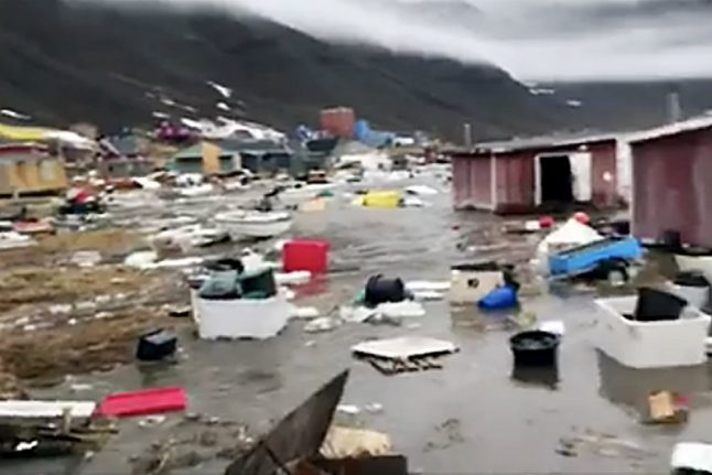 Denmark sends police to Greenland after earthquake and floods