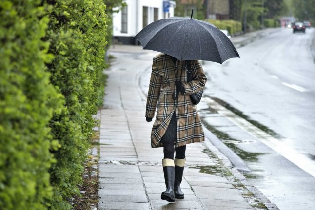 Downpours and thunder to Denmark as August continues where July left off