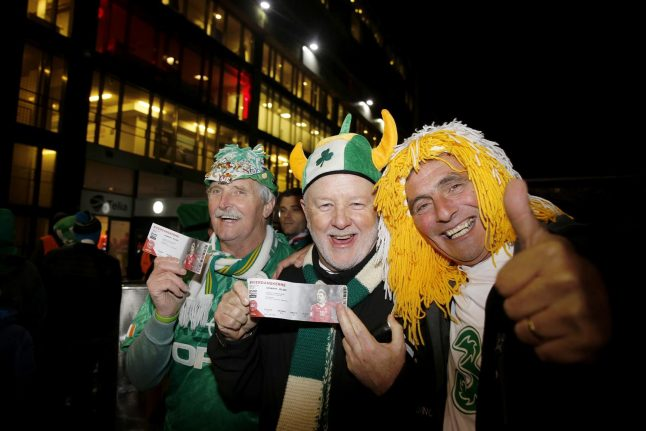 Irish football fans 'welcome to come again': Danish police after play-off