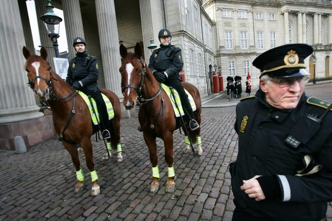 Police horses riding back to Denmark – but not for a while
