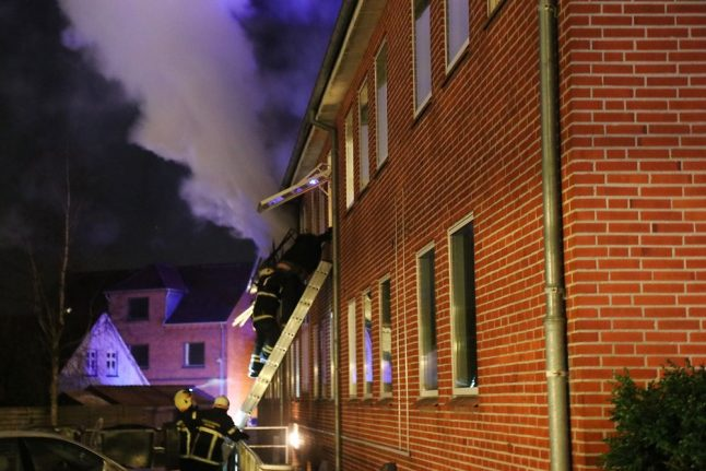 Danish police arrest man who set fire to own apartment