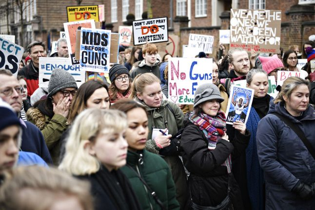 Americans and Danes support March For Our Lives with Copenhagen rally