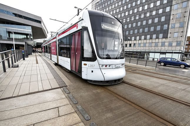 Cyclist not seriously injured after collision with Aarhus light rail