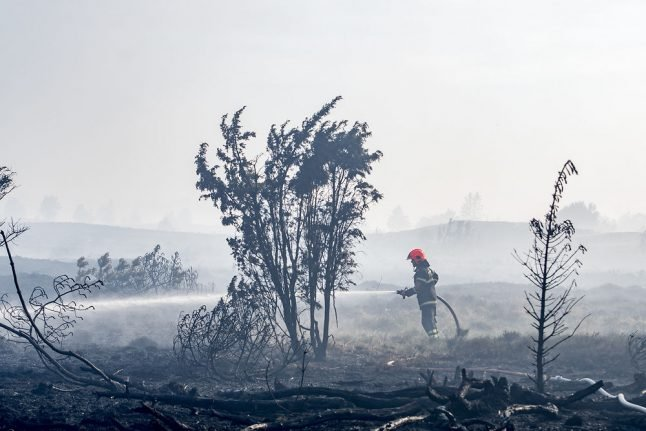 Danish fire service working overtime to put out flames caused by dry weather