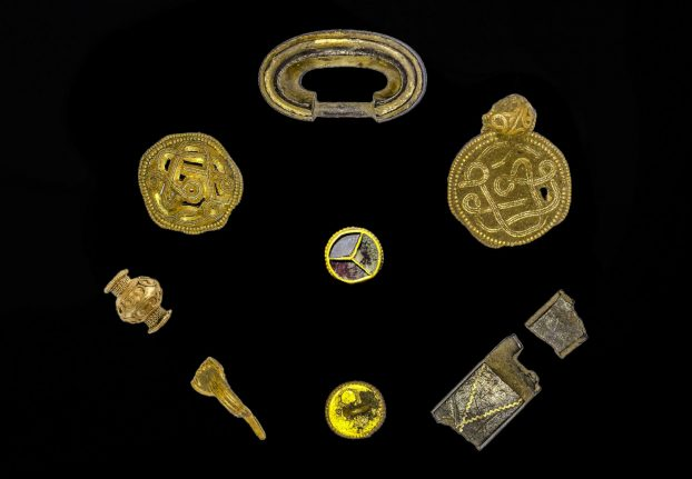 Archaeologists celebrate spectacular discovery of Danish Iron Age treasure