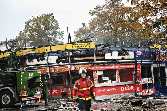 No injuries in fire at Danish amusement park