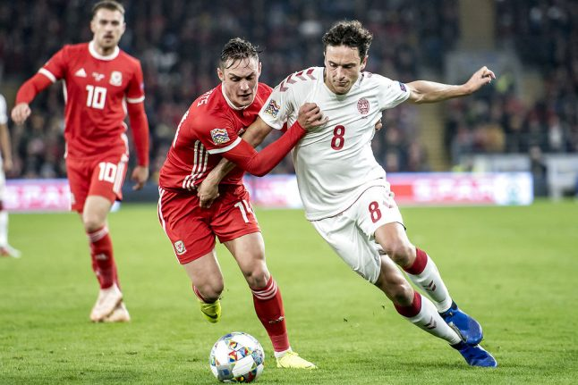 Denmark gain Nations League promotion with Wales win