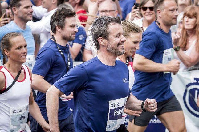 Denmark's Crown Prince Frederik to repeat road running events
