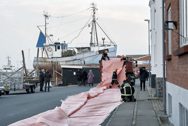 Denmark takes flood precautions as water levels rise