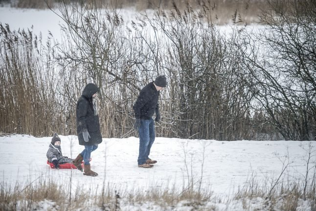 Snow may be only bright spot in grey, cold Danish weekend