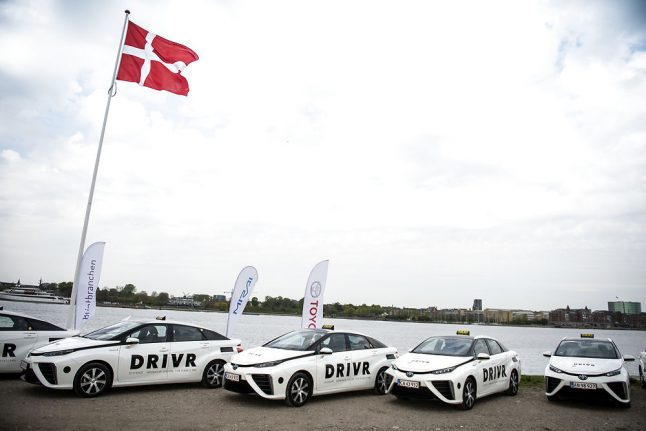 Denmark launches hydrogen-powered taxis in bid to clear emissions