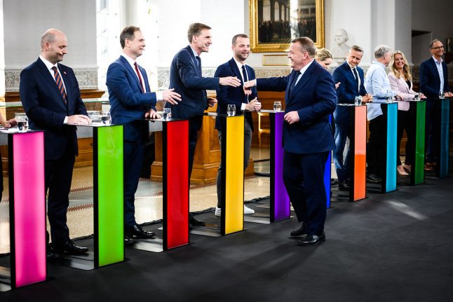 What happened on the first day of Denmark's general election race?